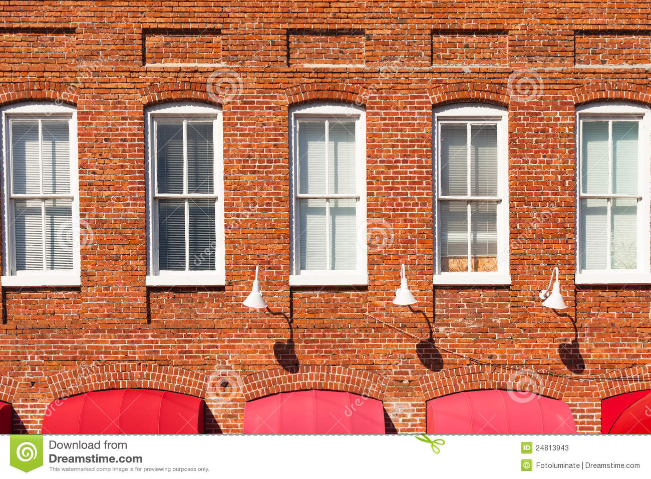 Red brick building facade stock image image of facade for Brick facade house