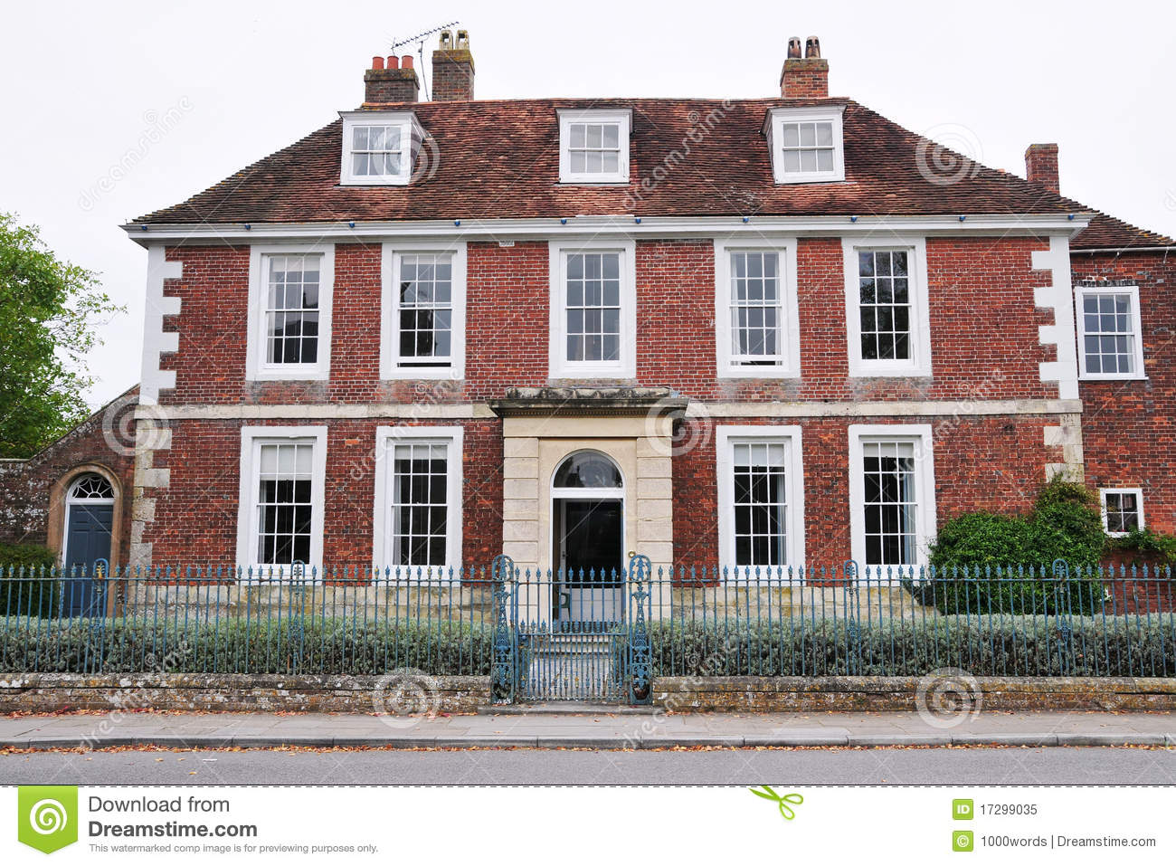 red brick house royalty free stock photo image 17299035