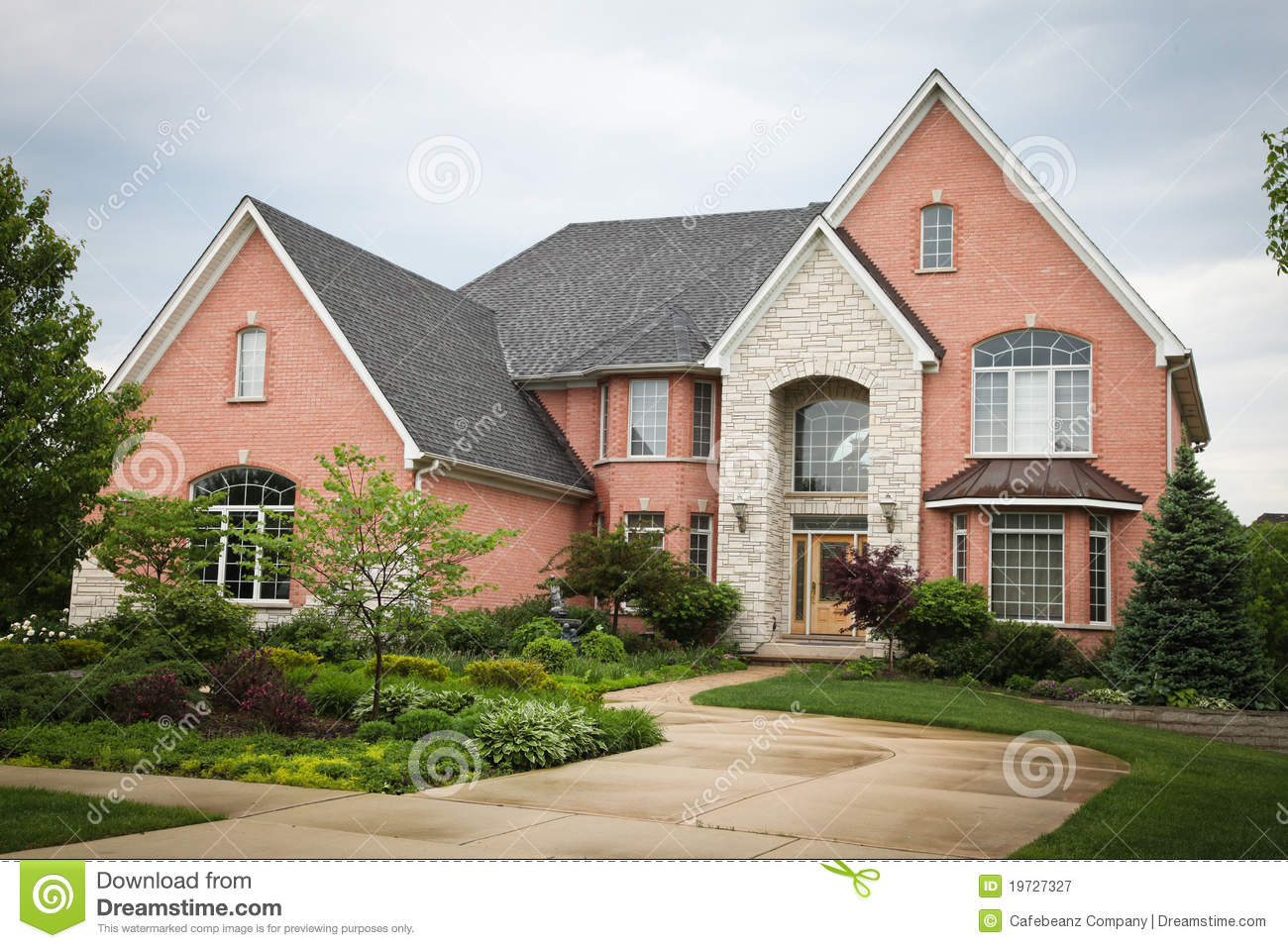 Red Brick House Stock Image Image Of Search Bankowned