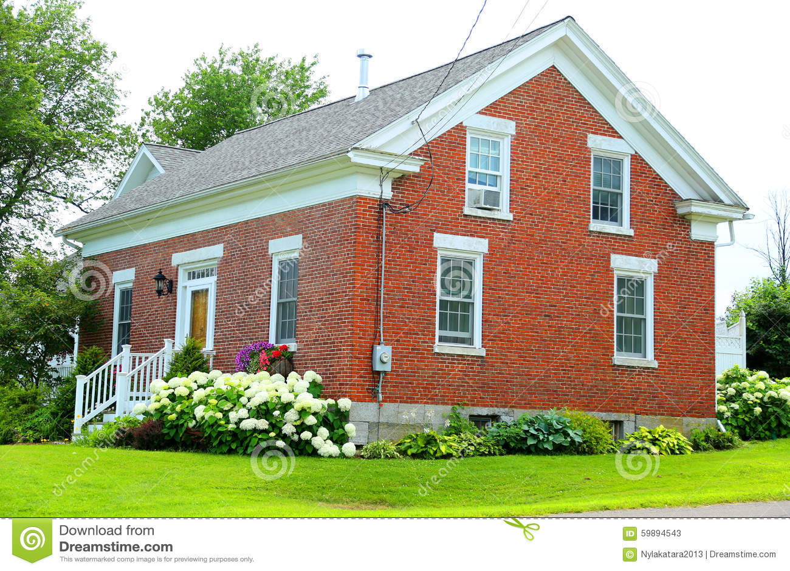 Red Brick House Stock Photo Image 59894543