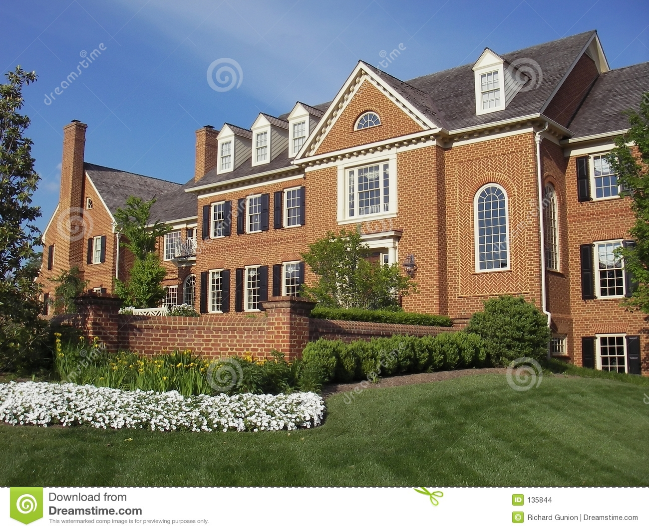 Red Brick Mansion Stock Images Image 135844