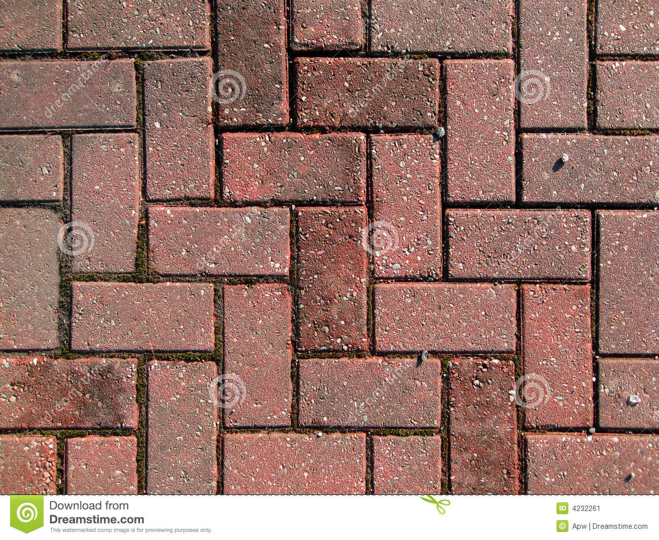 Red Paving Stones : Red brick paving stock image of symmetric aligned
