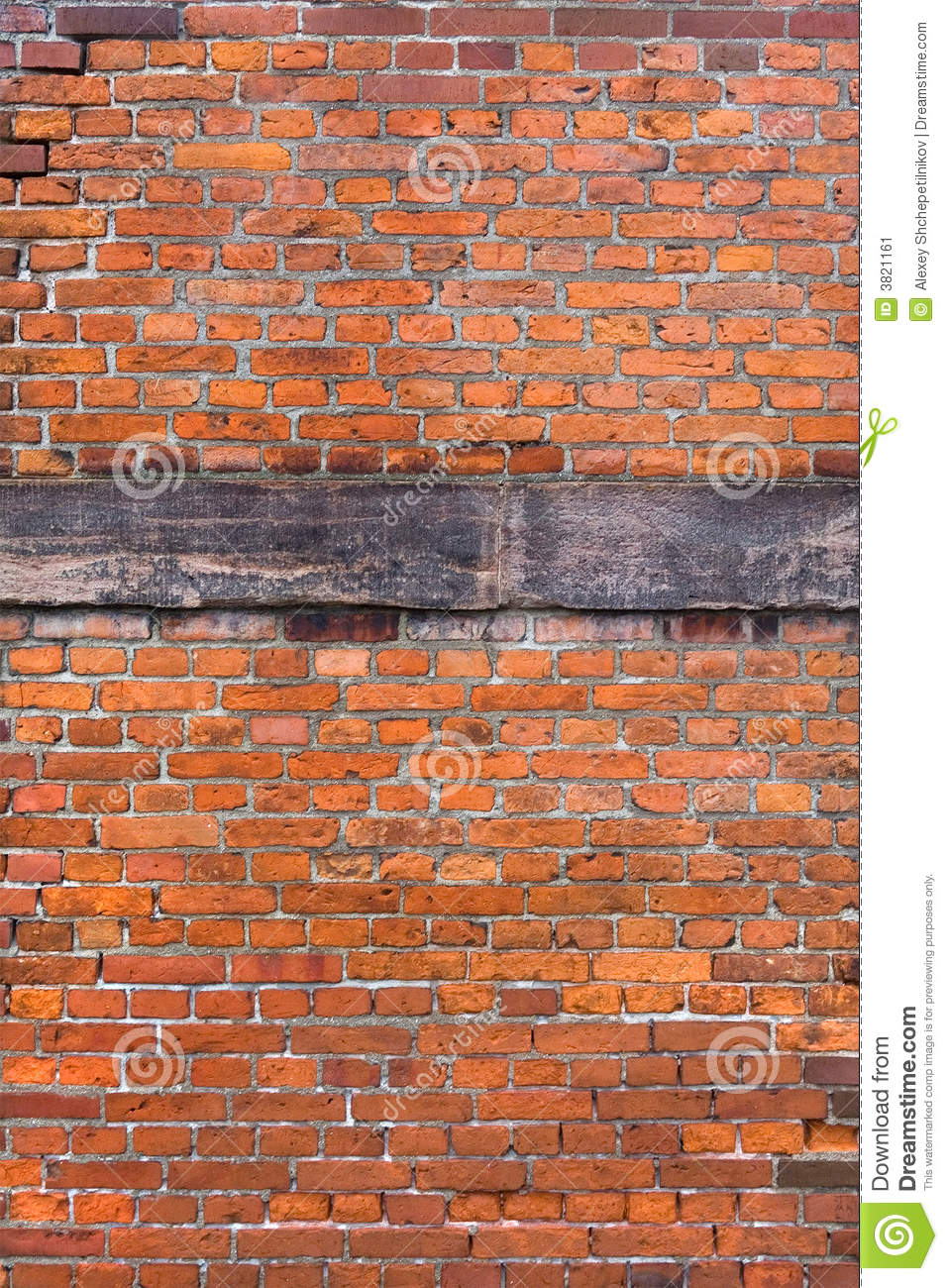 Reinforced Brick Wall Design : Red brick reinforced wall stock image