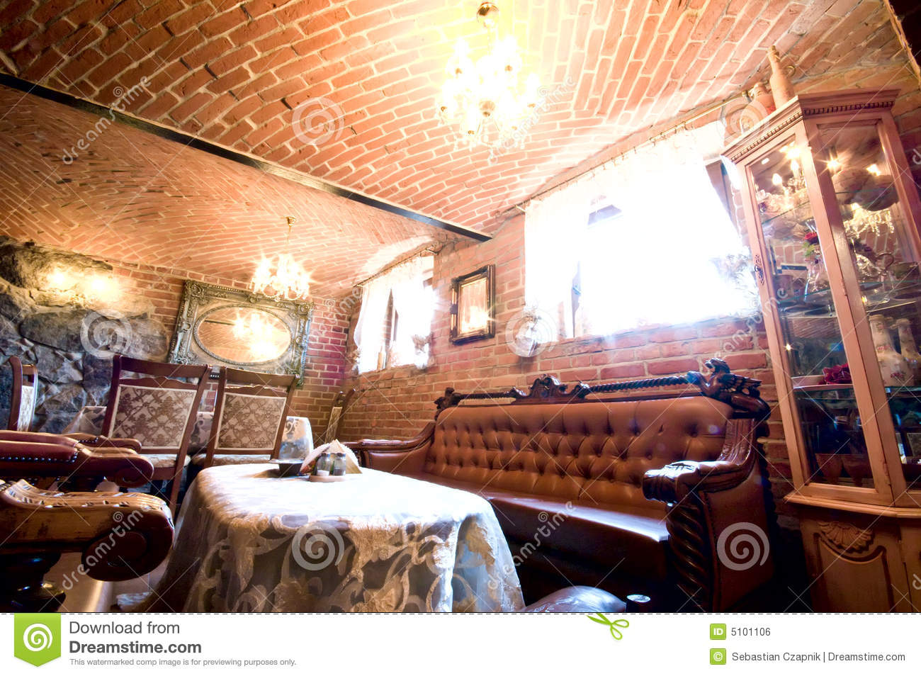 red brick restaurant royalty free stock image - image: 5101106