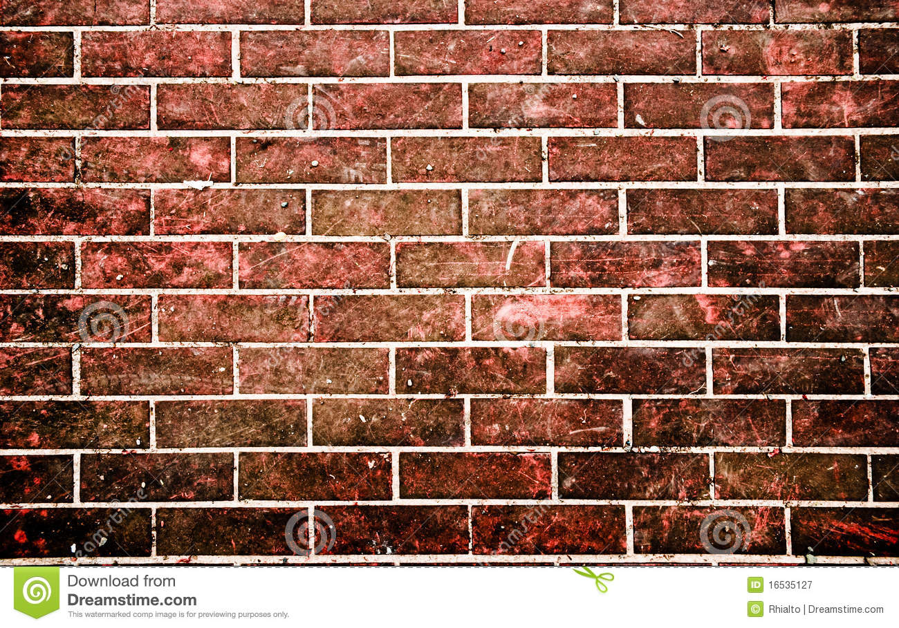 Red brick stone wall in grunge style royalty free stock for Brick types and styles