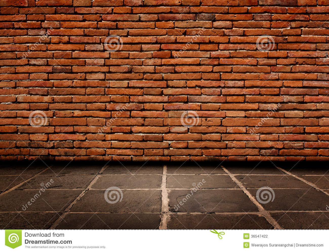 Z Brick Flooring : Red brick structure of the walls and cement flooring