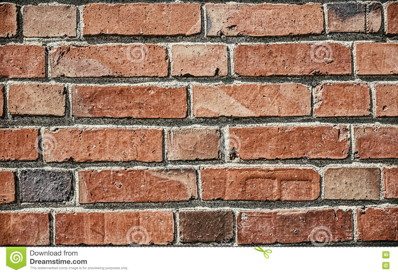 red brick texture for background with vintage edit stock photo