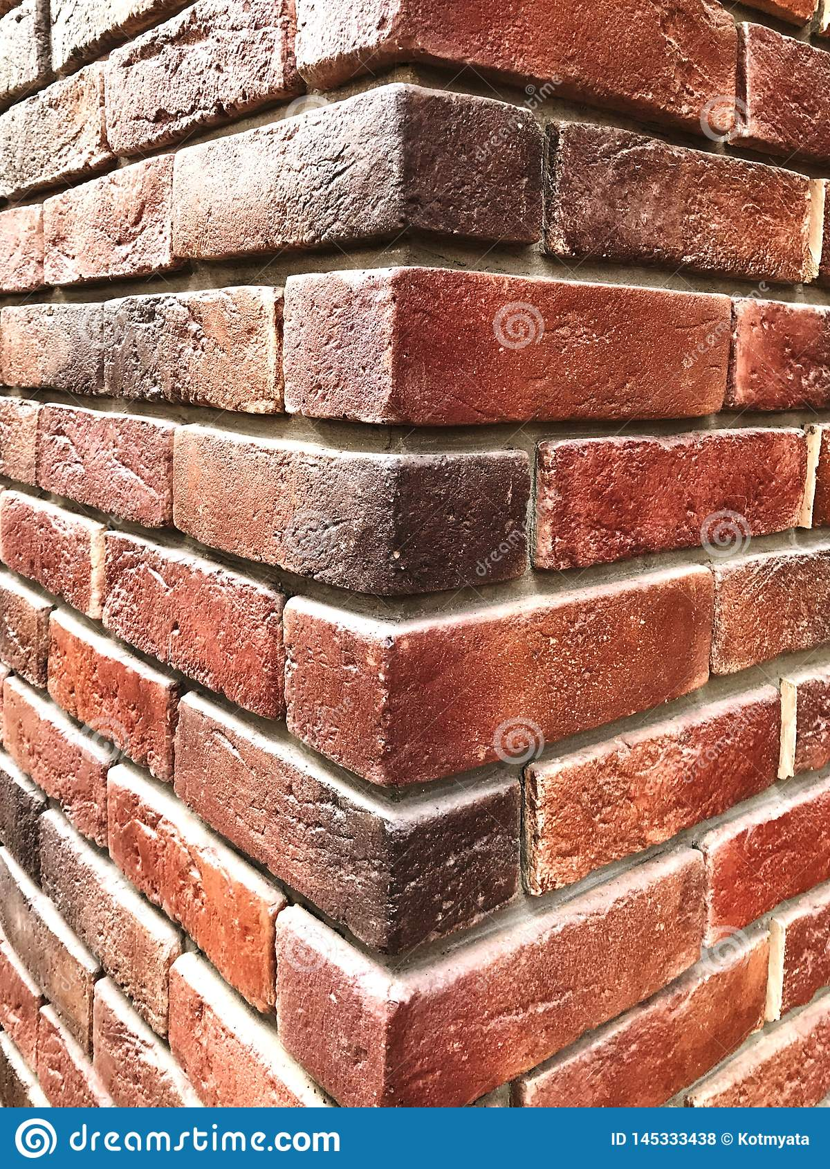 Red Brick Wall Brick Texture Background Corner Wall Stock Photo