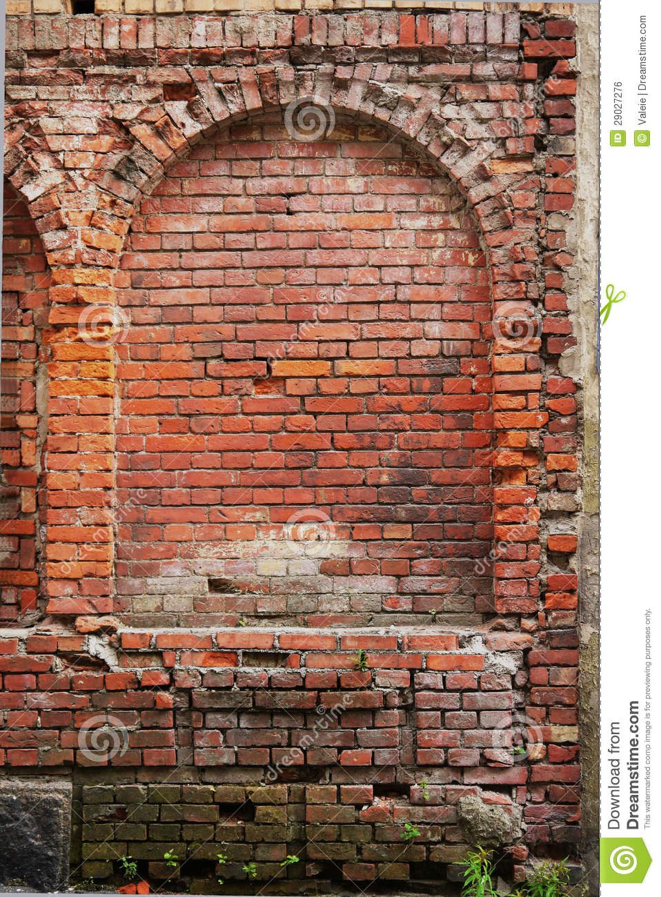 Red Brick Wall Of The Medieval Houses Stock Photo Image