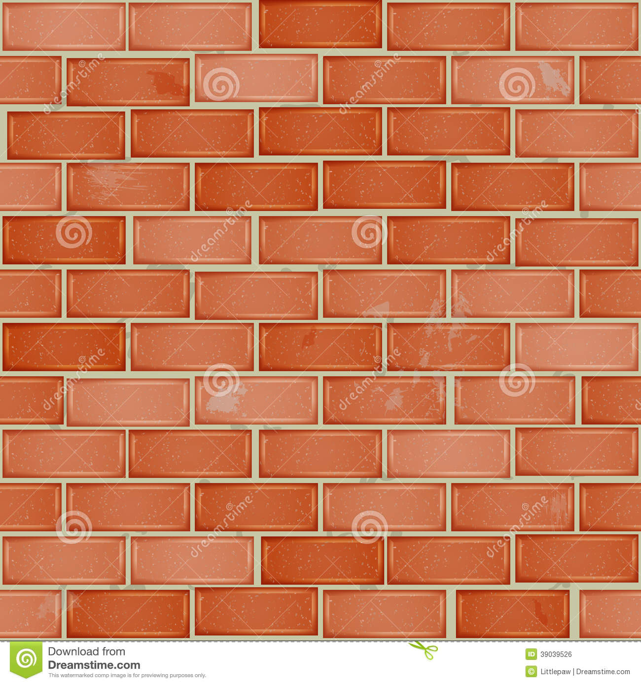 Red Brick Wall Seamless Pattern Stock Vector Image 39039526