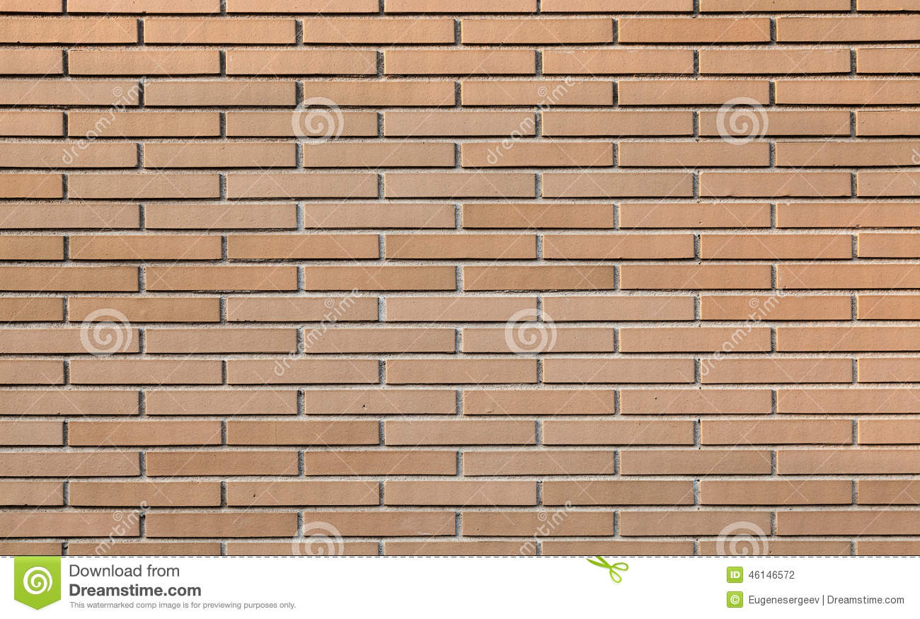 Red Brick Wall Small Scale Background Texture Stock Photo