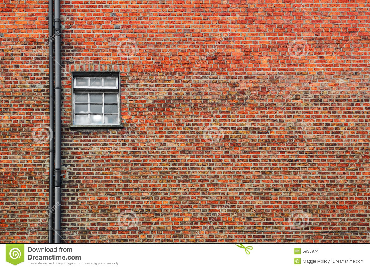 Red Brick Wall With Small Window Stock Images Image 5935874