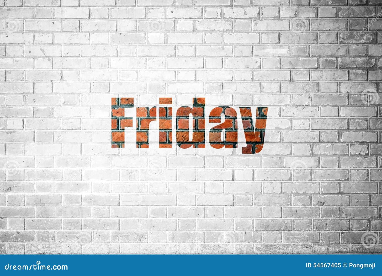 friday day wall calendar reminder weekend plan word