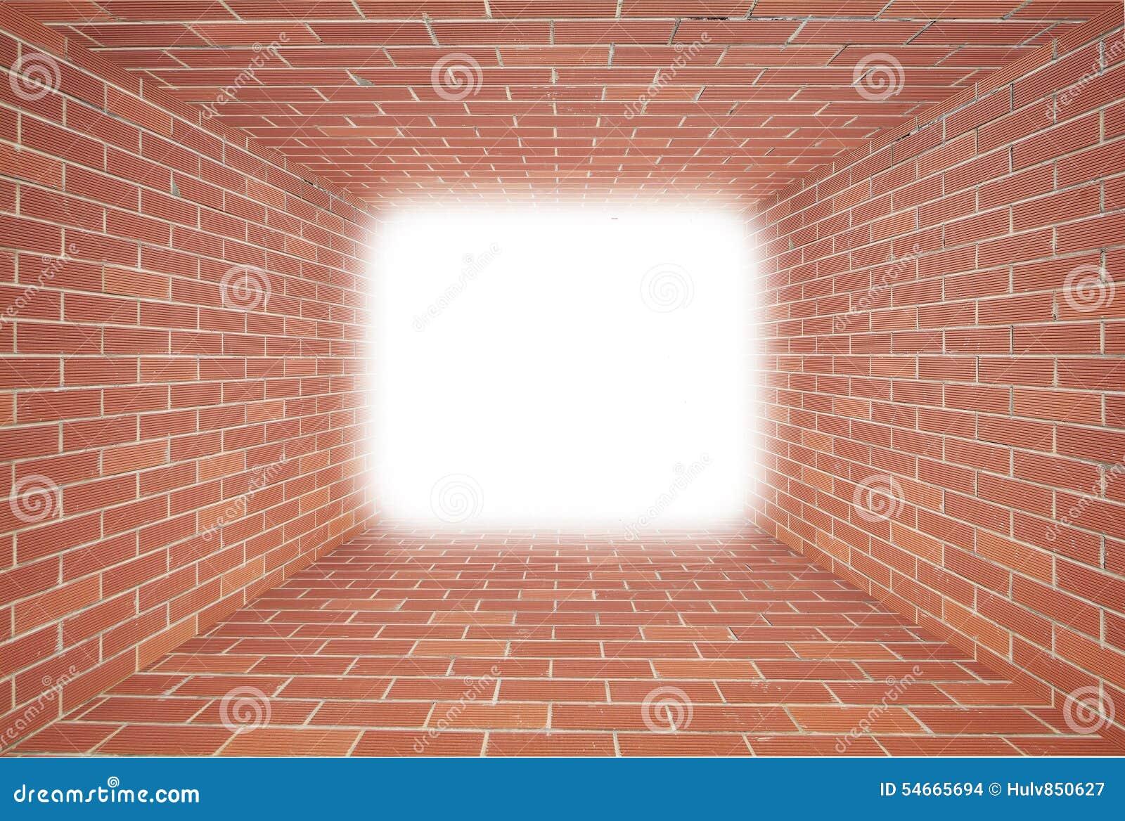 Brick Tunnel Inside Royalty Free Stock Image