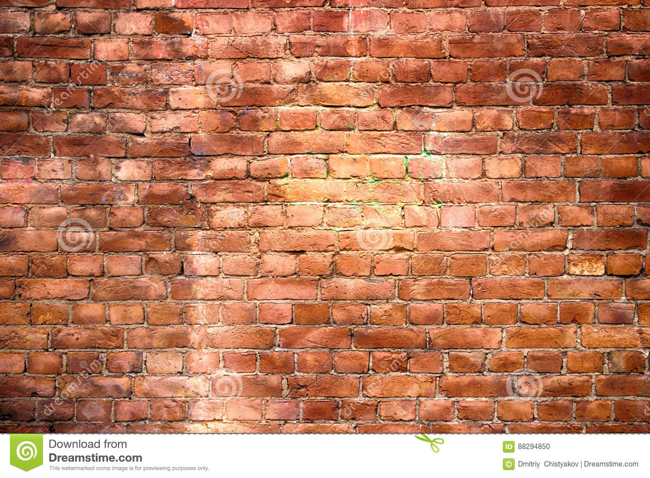 Red brick wall urban exterior weathered surface as for Exterior background
