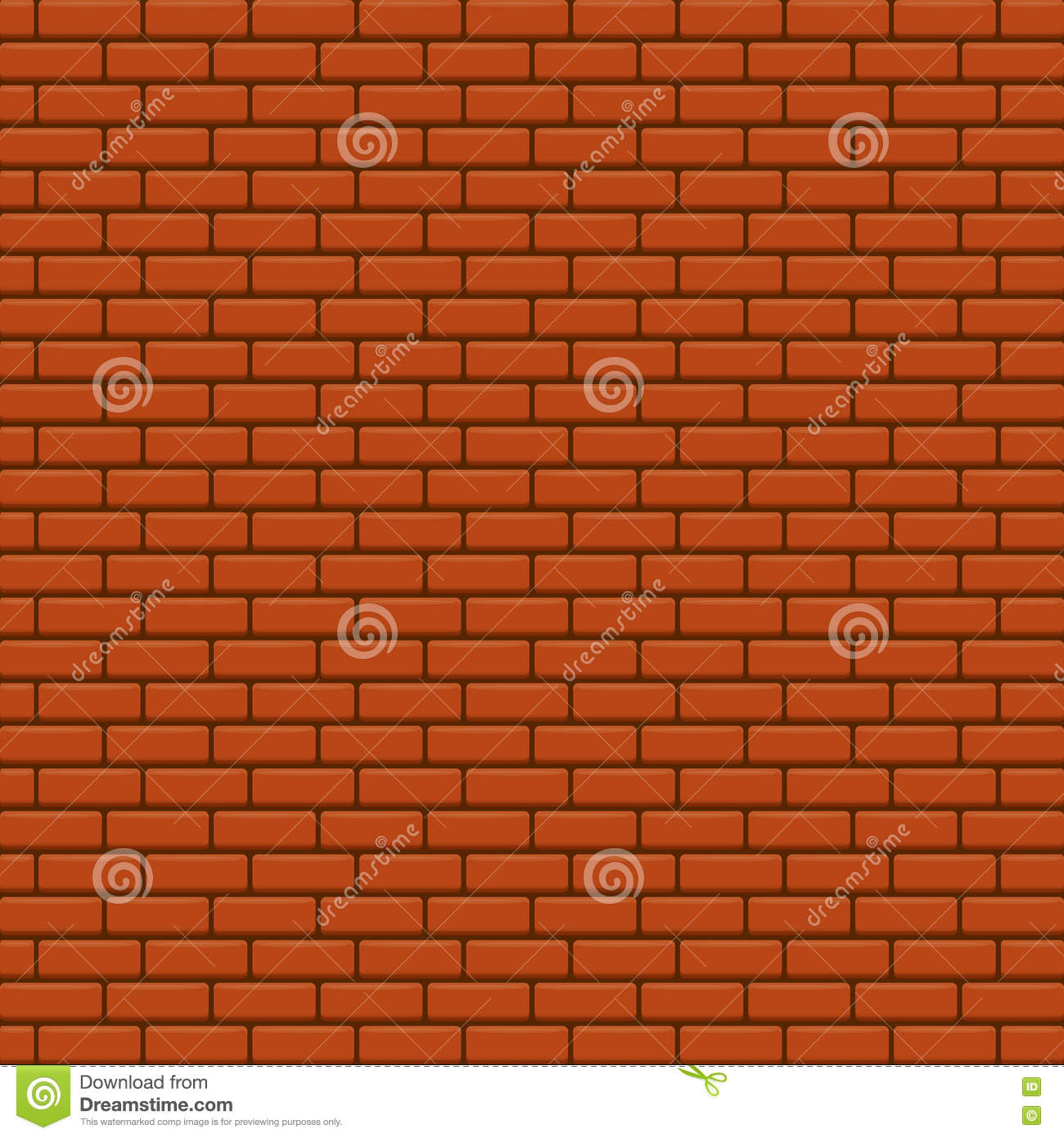 Red Brick Wall Vector Background  Stock Vector