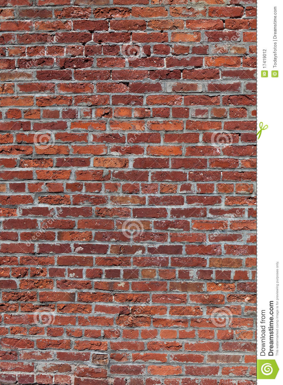 Red Brick Wall, Vertical Stock Photography - Image: 17419012