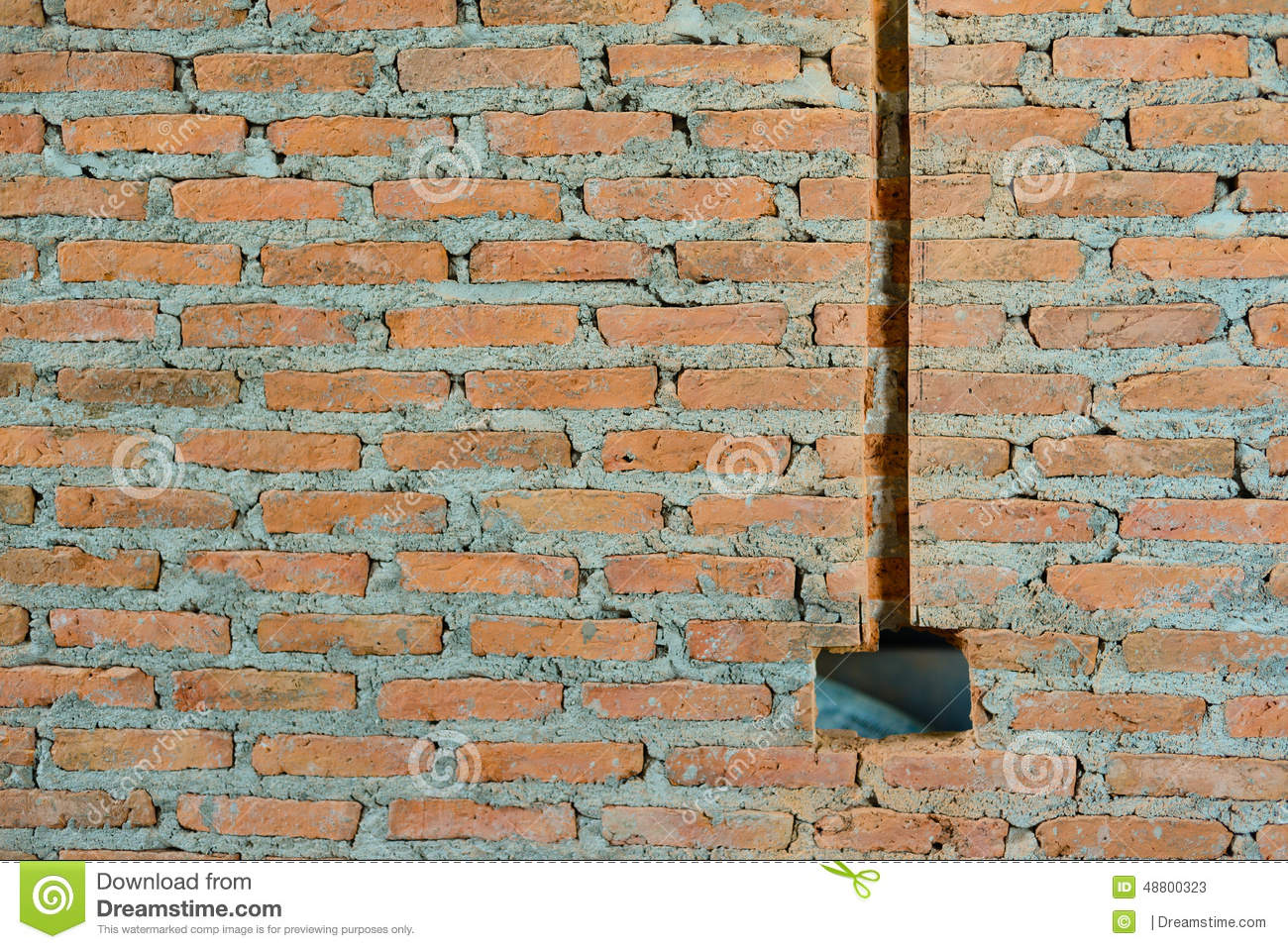 red brick wall stock illustration illustration of clay 48800323 rh dreamstime com Wall Switch Wiring Diagram Wiring Interior Walls