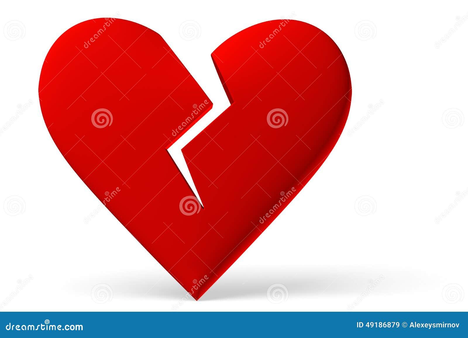 Red Broken Heart Symbol Stock Illustration Illustration Of Broken
