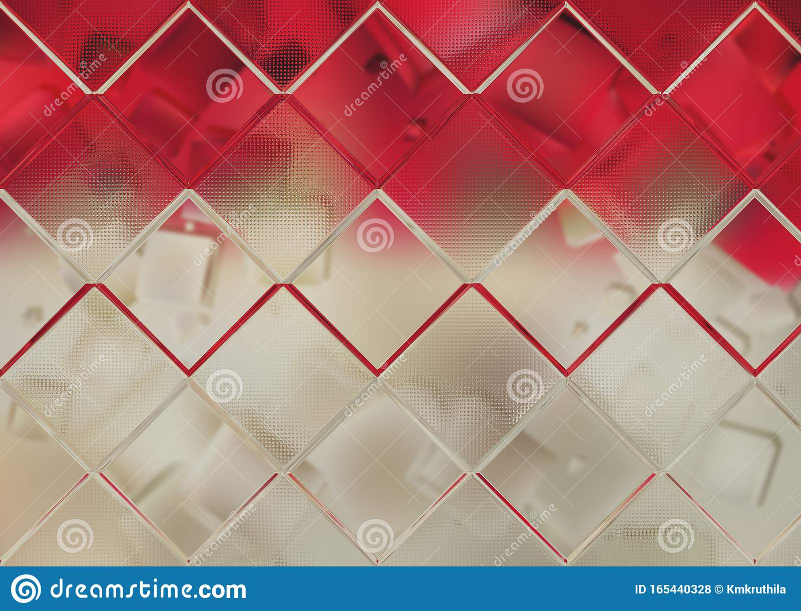 Red And Brown Geometric Square Background Stock Photo Image Of Quadrilateral Graphic 165440328