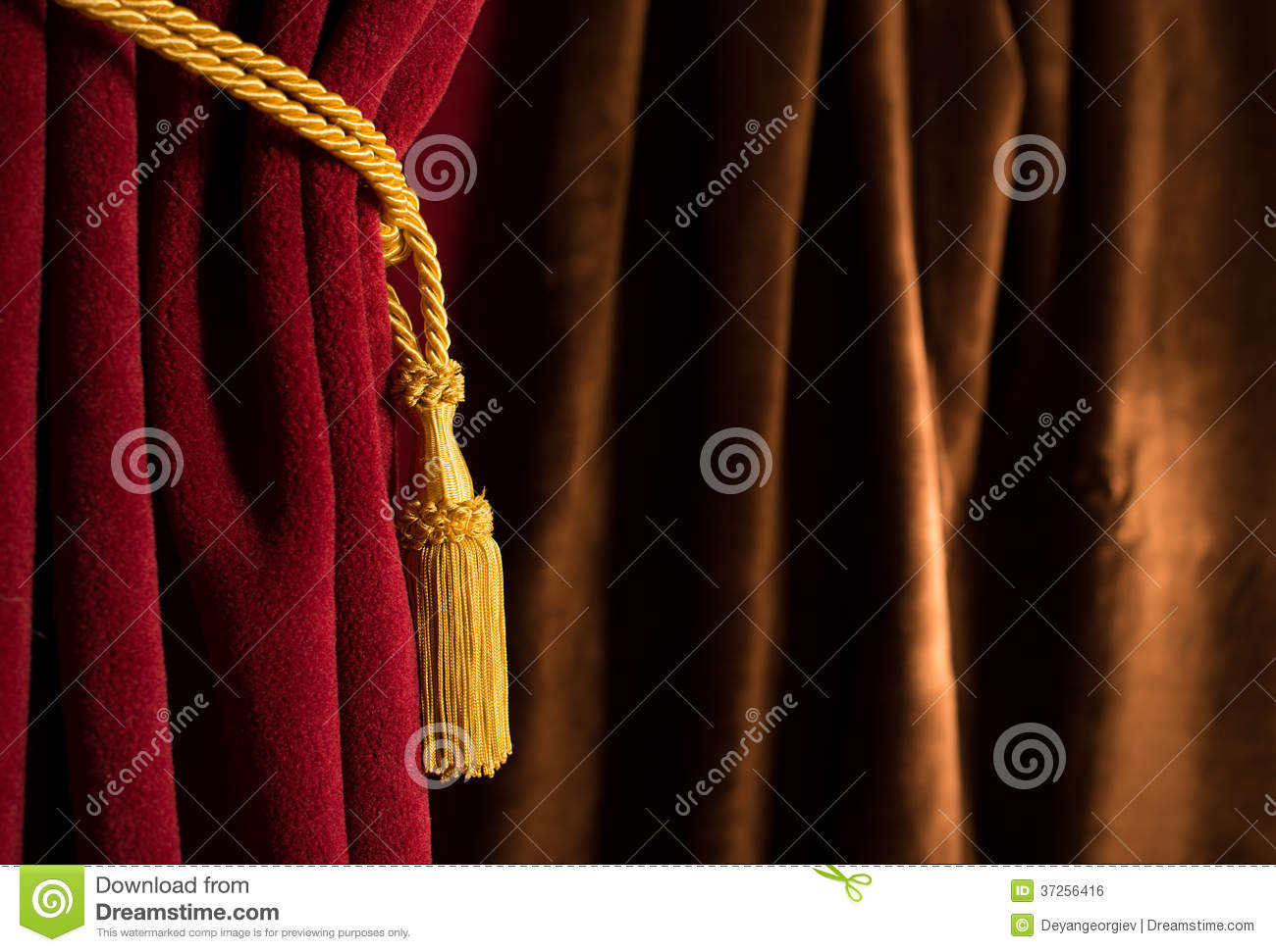 red and brown theatre curtain royalty free stock image image 37256416. Black Bedroom Furniture Sets. Home Design Ideas
