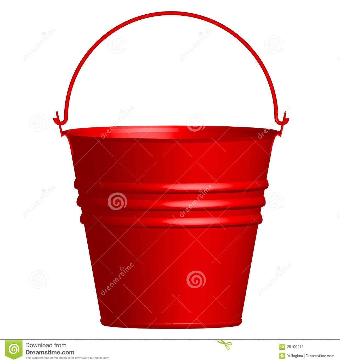 Red Bucket Royalty Free Stock Photos  Image: 25100278