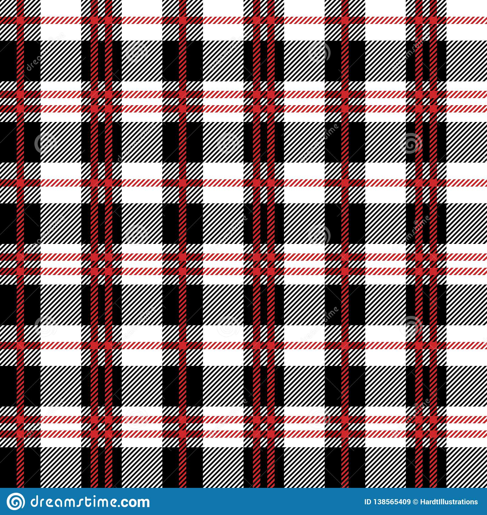 Red Buffalo Plaid Seamless Pattern