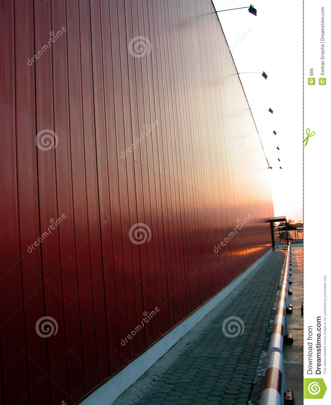 Red building alley