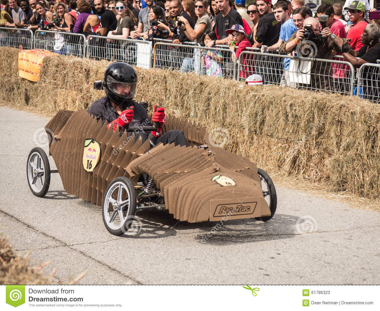 Red Bull Soap Box Derby >> Red Bull Cardboard Soapbox Racer Editorial Stock Photo
