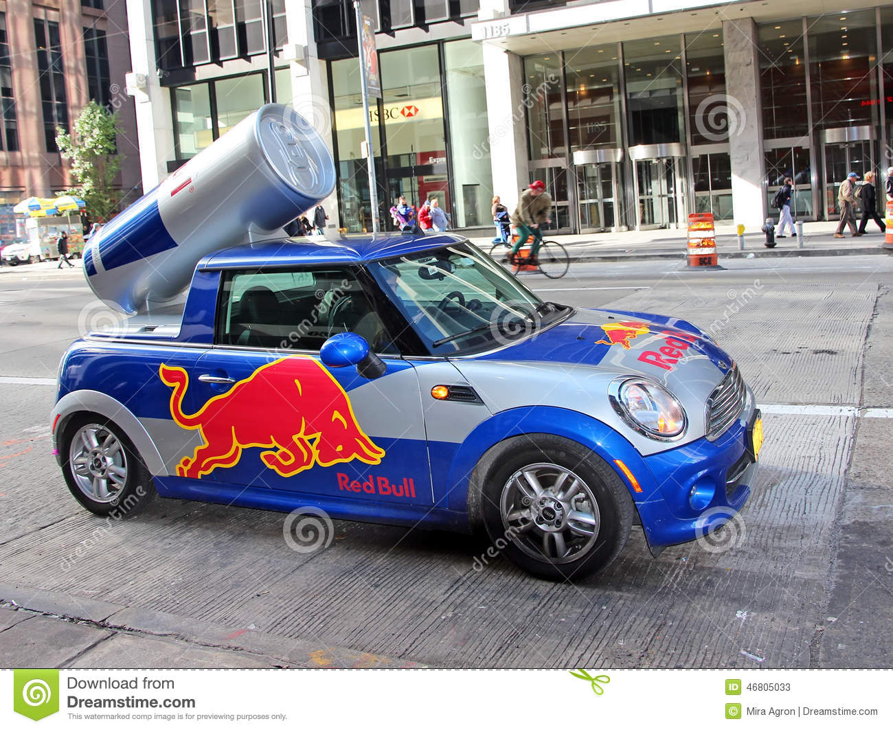Red Bull Mini Cooper Editorial Stock Photo Image Of Back 46805033
