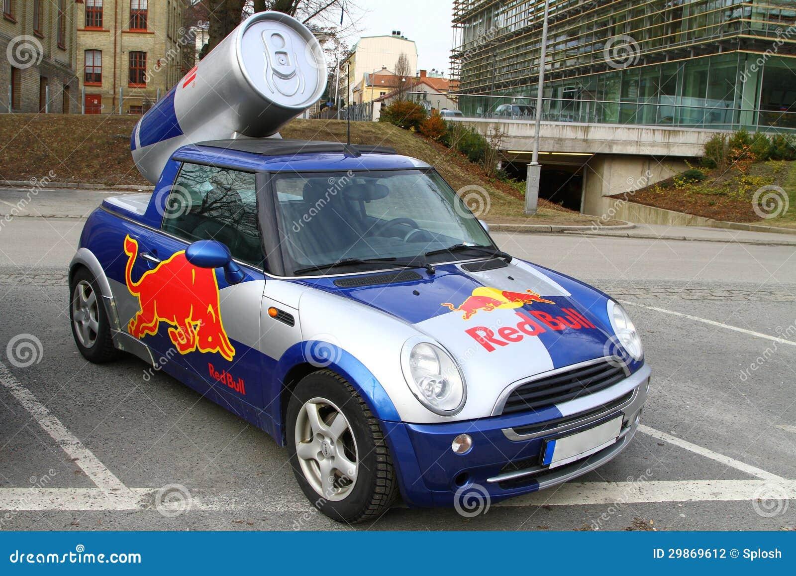Mini Cooper Red Bull >> Red Bull Mini Cooper Publicity Car Editorial Photography - Image: 29869612