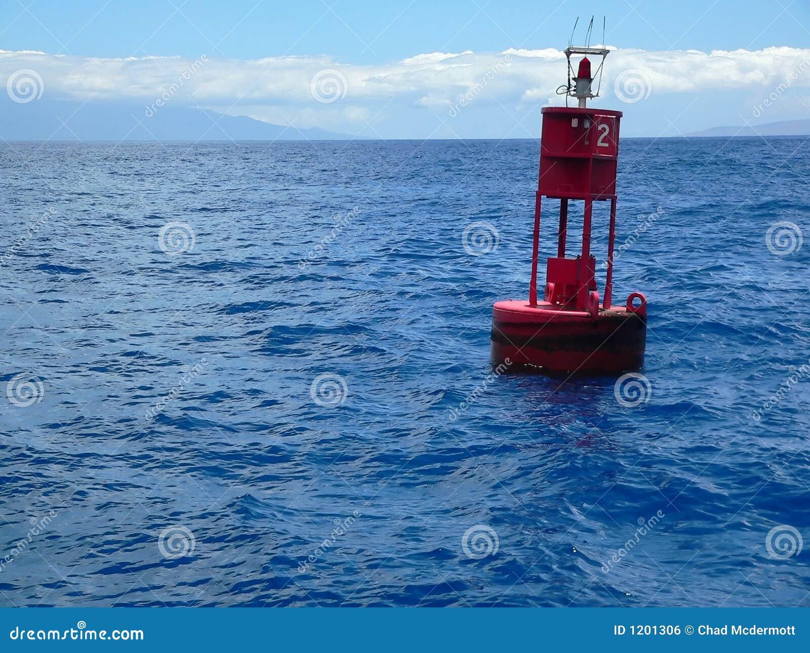 Red Buoy on Ocean