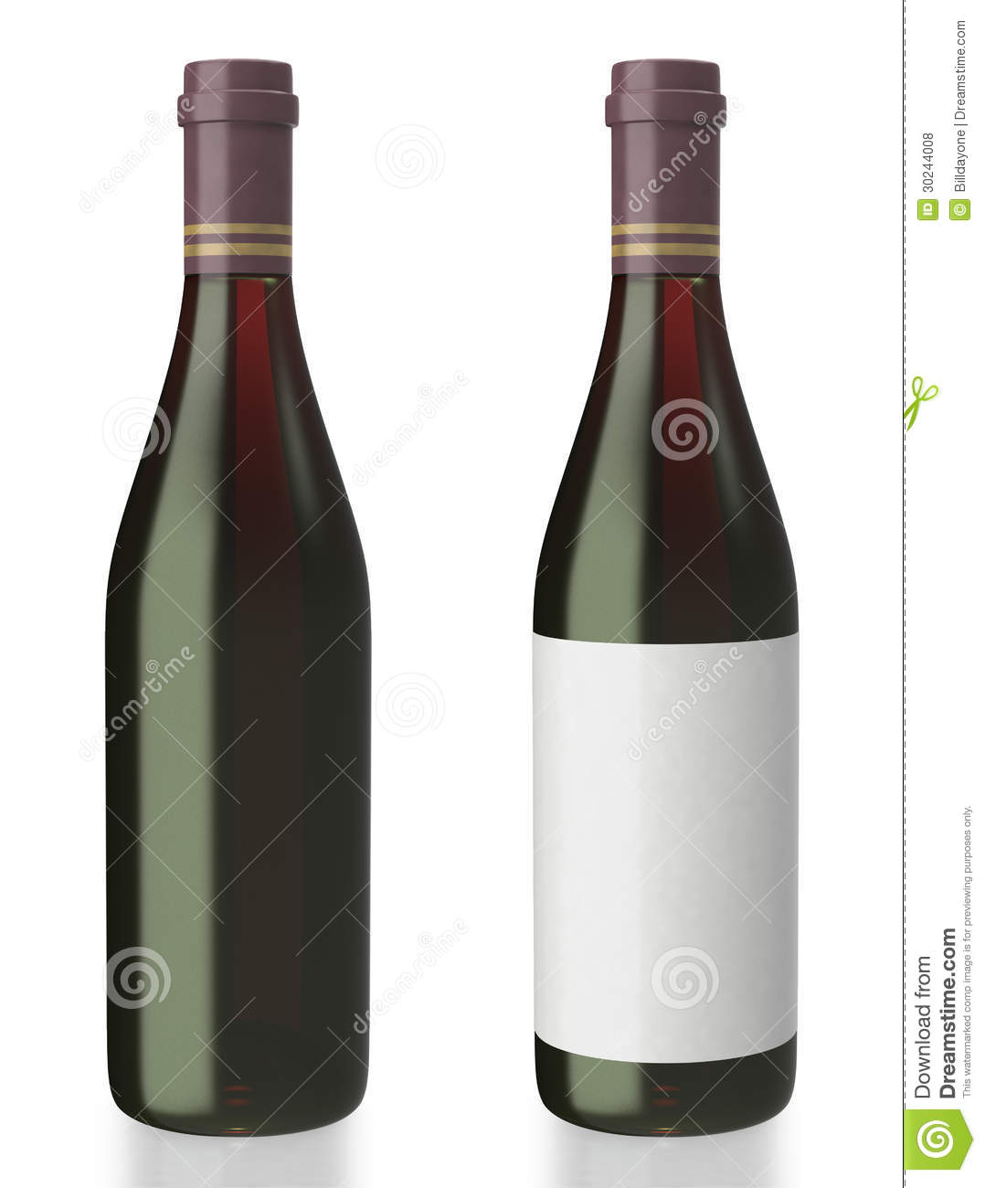 Red Wine Bottle On White Background Royalty Free Stock
