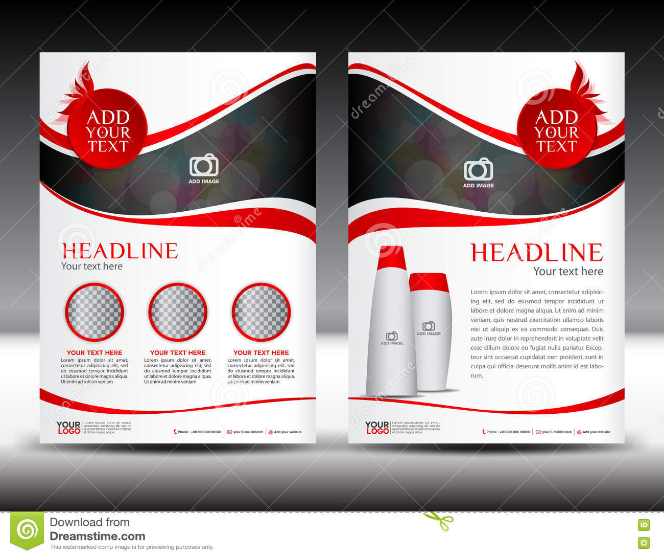 Red Business Brochure Flyer Template Design Newsletter Magazine