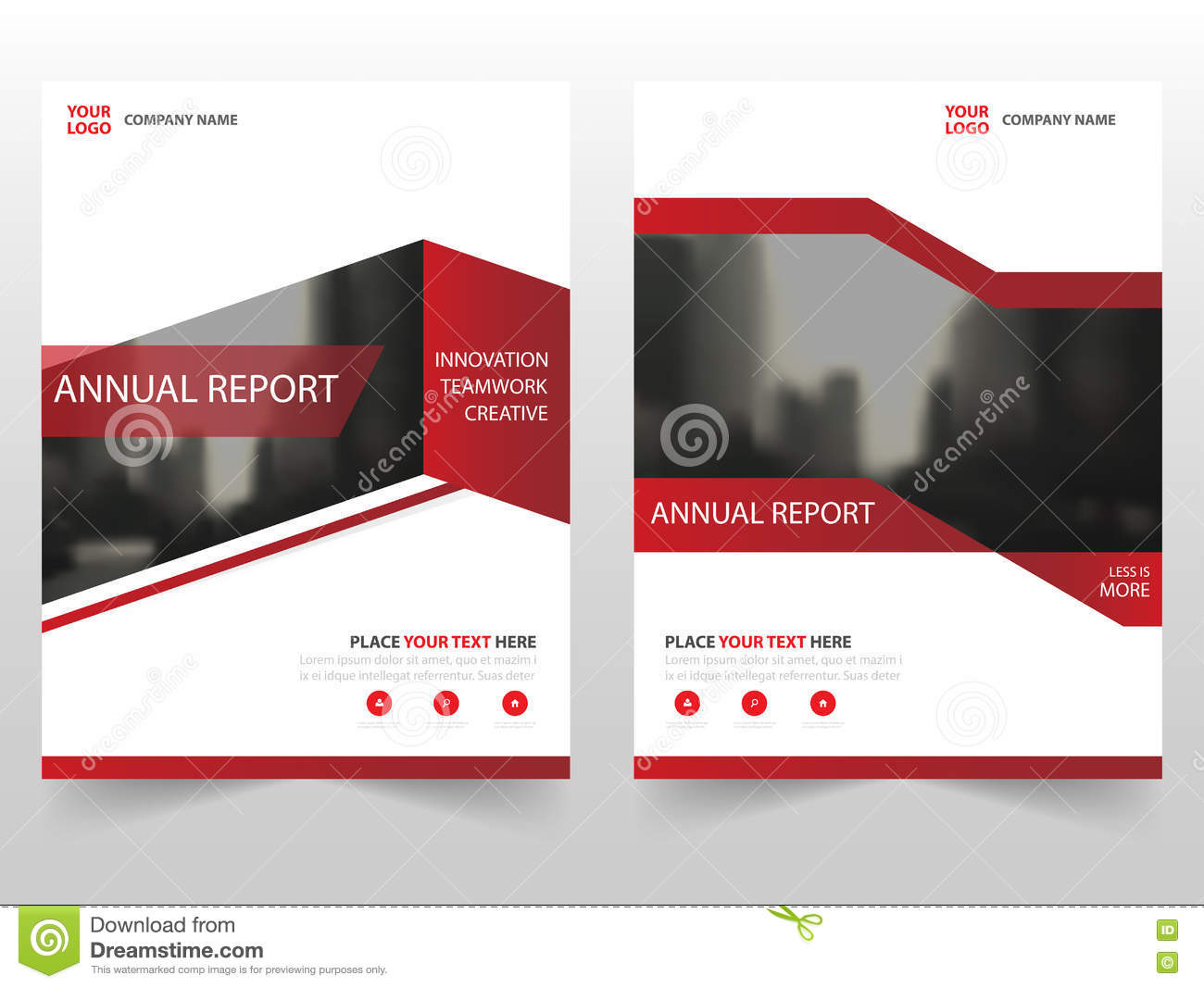 Red Business Brochure Leaflet Flyer Annual Report Template Design, Book Cover Layout Design