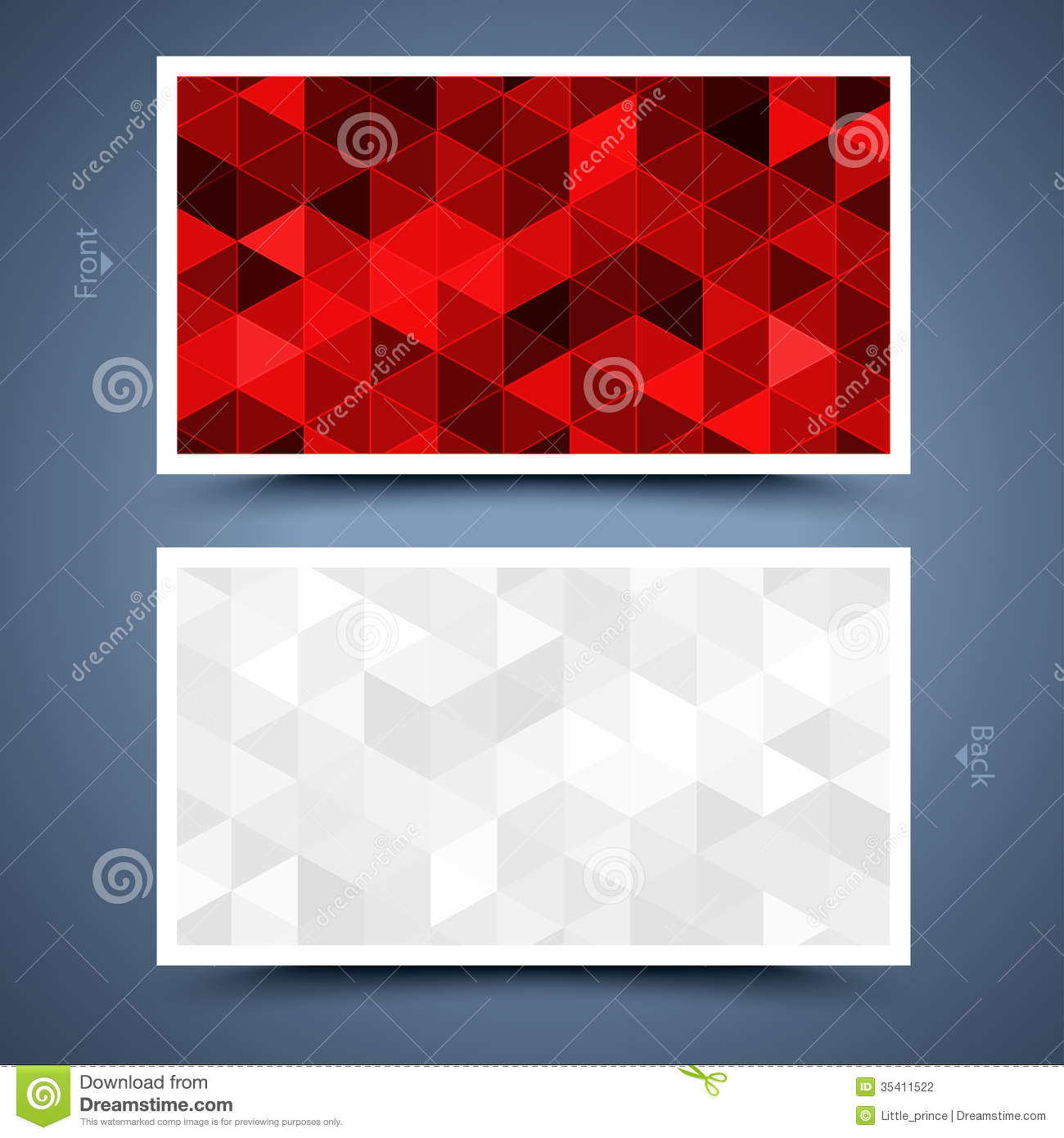 Red Business Card Template. Abstract Background Stock Photography ...
