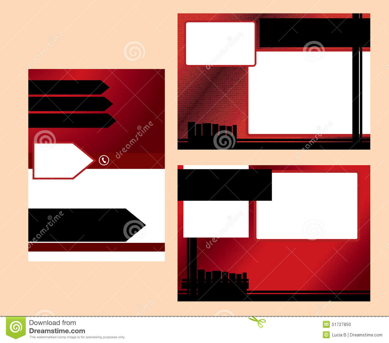 Red business postcard template stock vector illustration of fence red business postcard template flashek Gallery