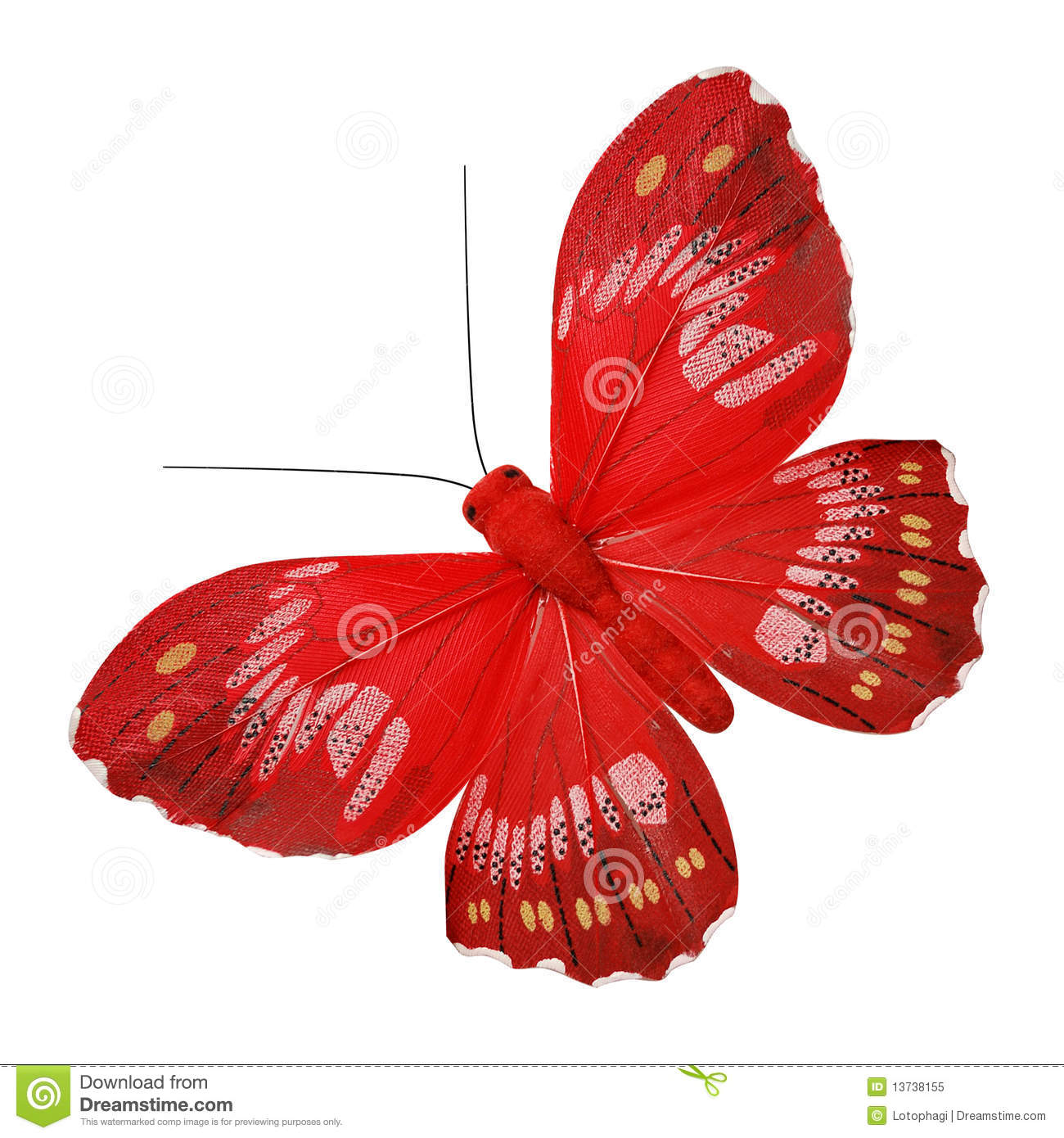 Red Butterfly Royalty Free Stock Photo - Image: 13738155