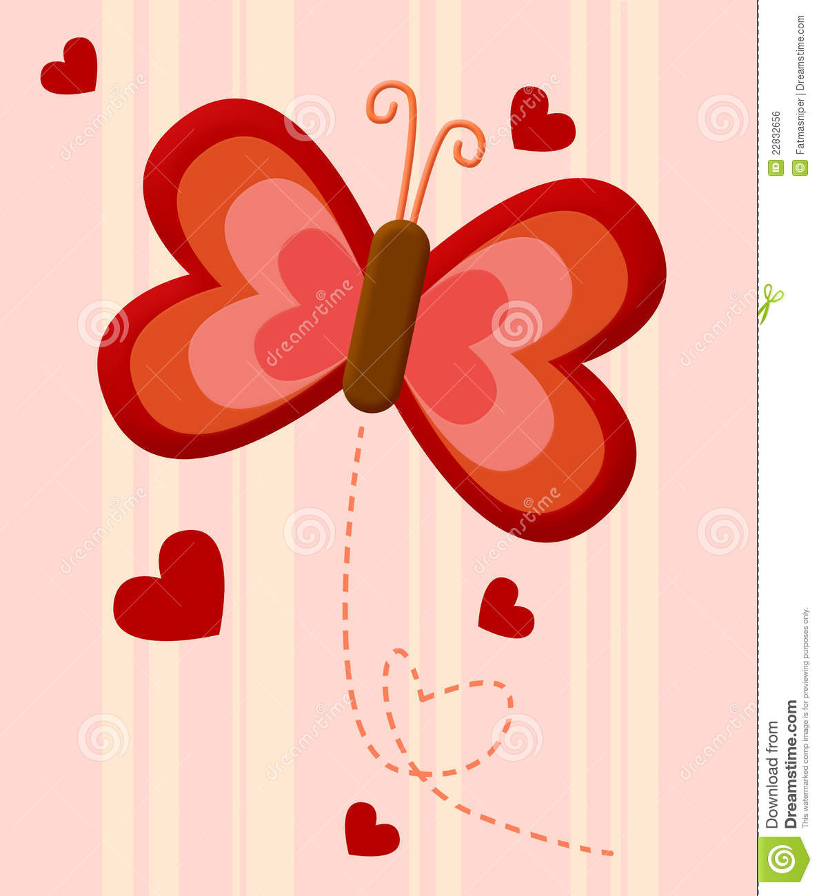Red Butterfly Love Royalty Free Stock Image - Image: 22832656