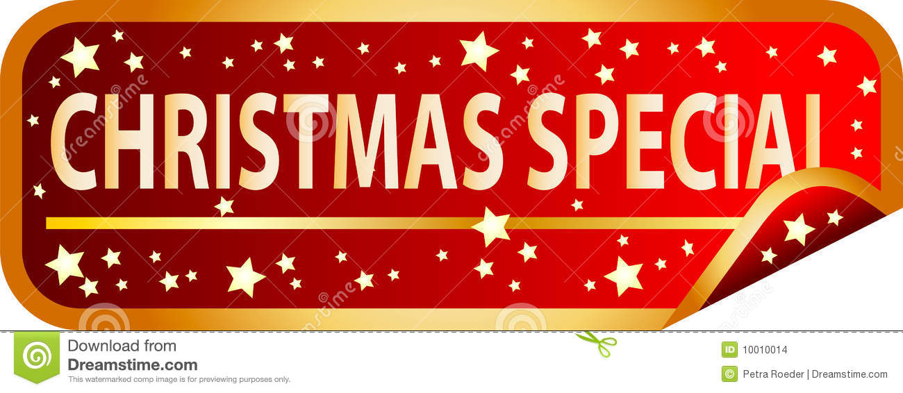 Christmas Special.Red Button Christmas Special Stock Vector Illustration Of