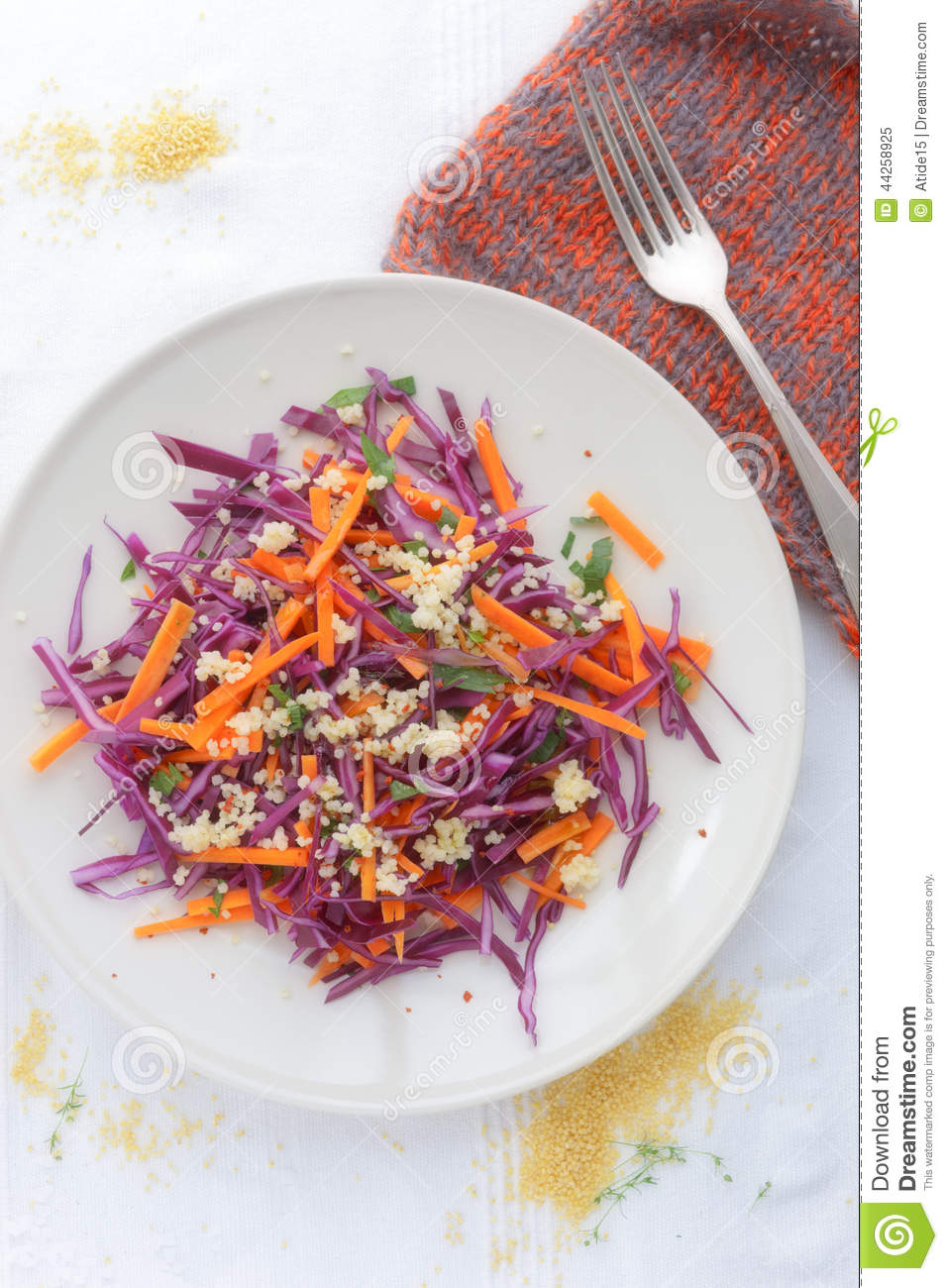 Red Cabbage And Carrot Slaw Stock PhotoImage44258925