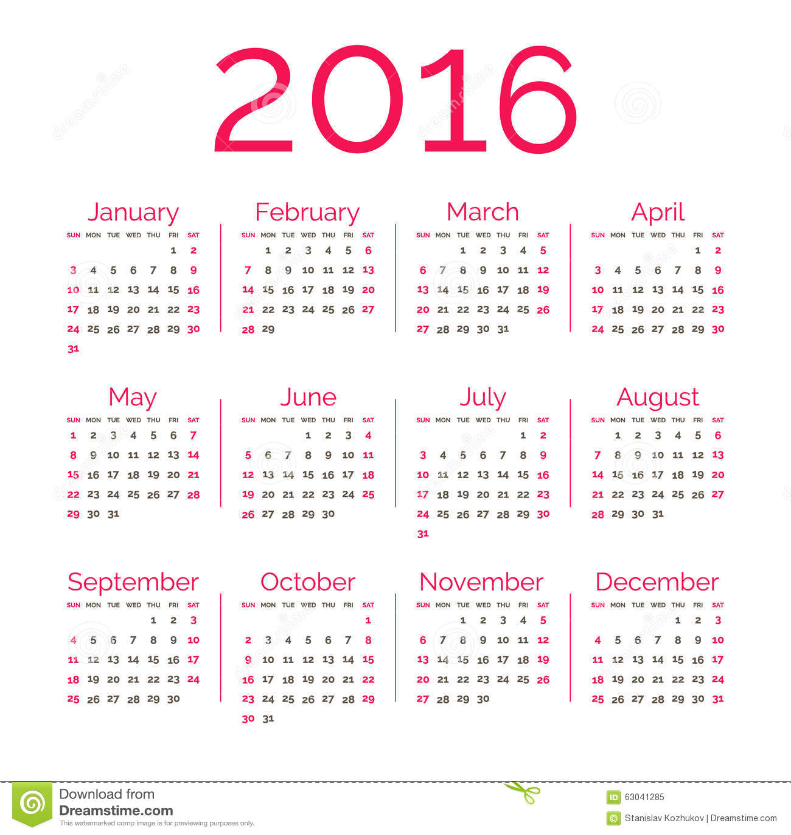 Calendar Red : Red calendar stock vector image