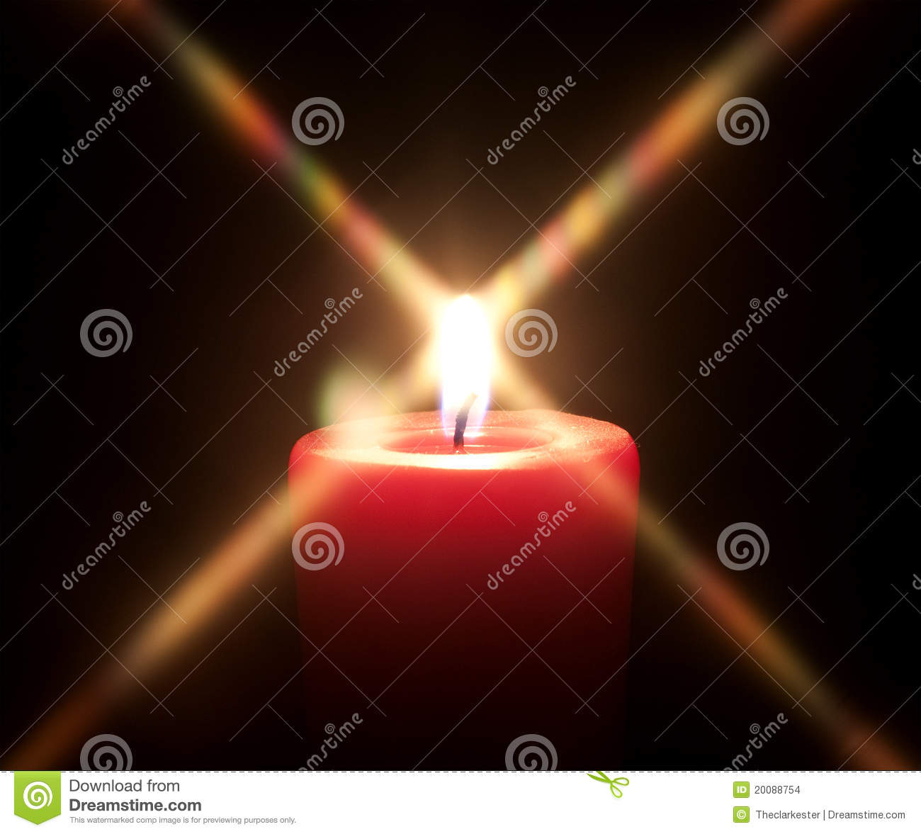 Red Candle With Black Background Stock Images - Image ...