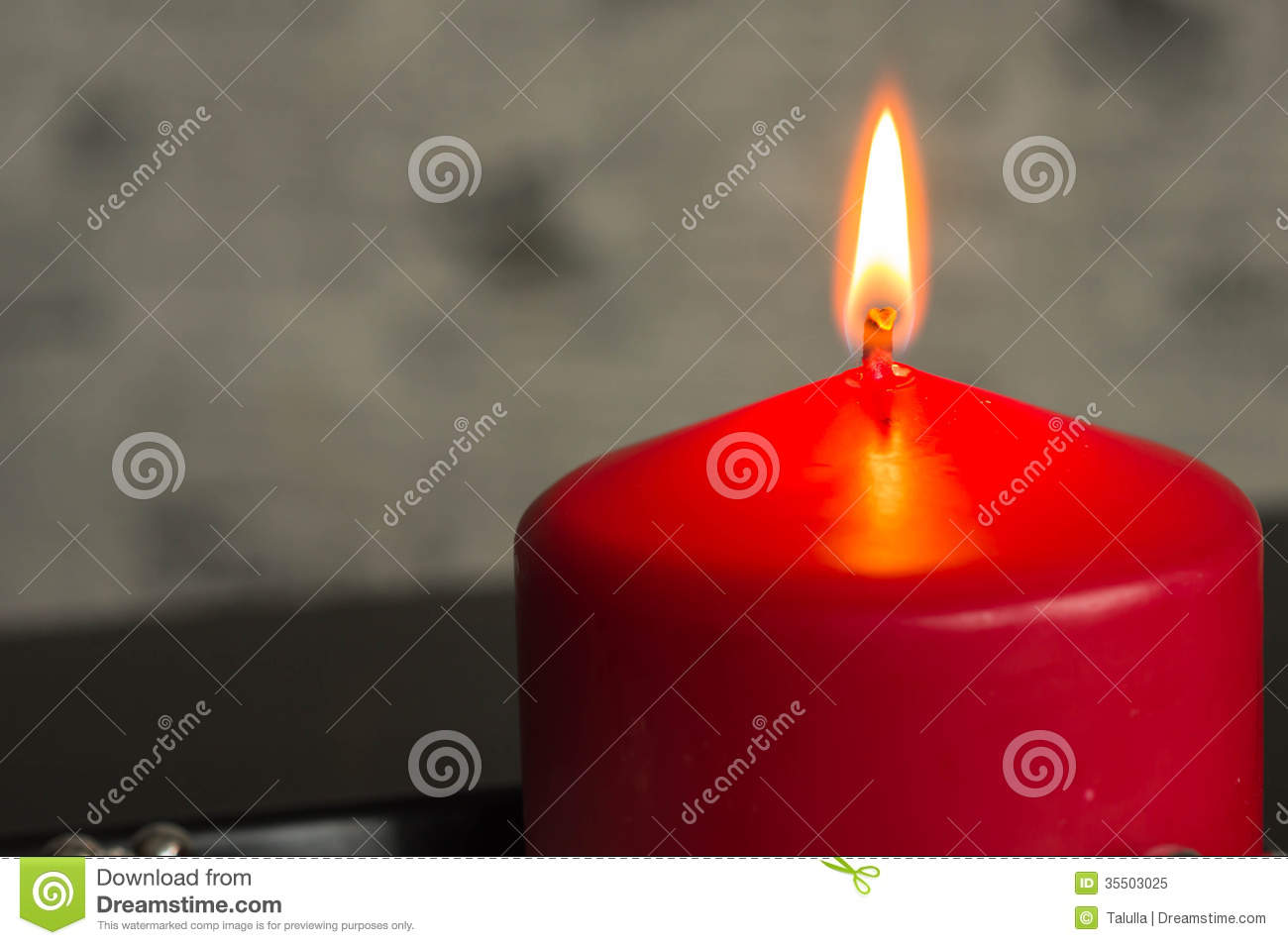 Red Candle On A Black-gray Background Royalty Free Stock ...