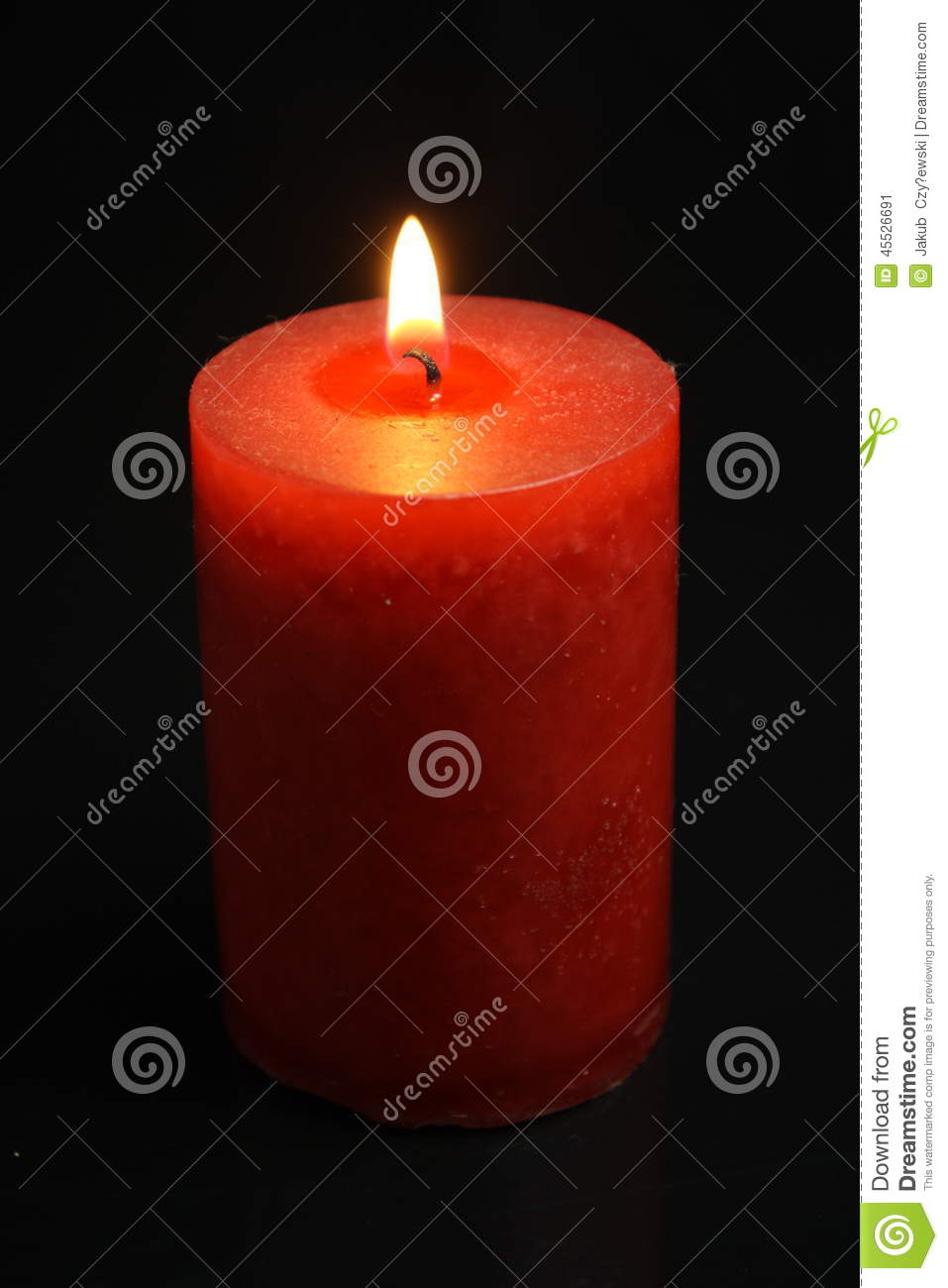 Red Candle Stock Photo - Image: 45526691