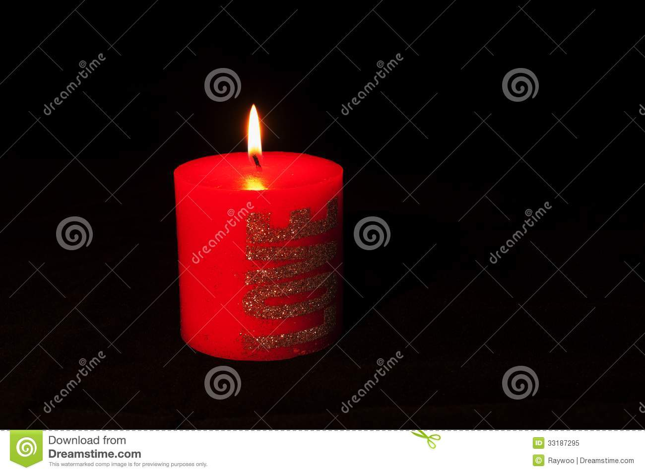 Red Candle Royalty Free Stock Photo - Image: 33187295