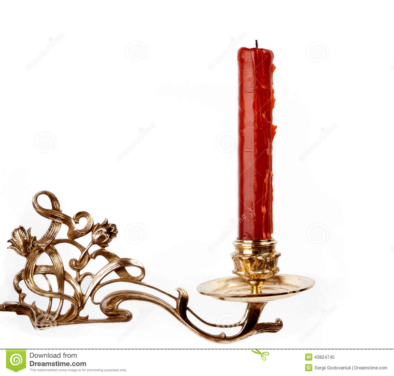 red candle white background - photo #14
