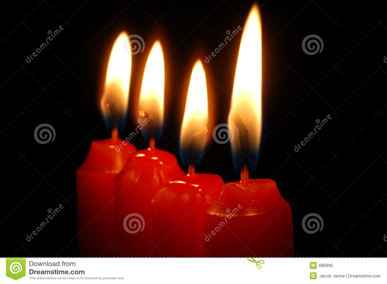 Red Candles Royalty Free Stock Photo - Image: 686995