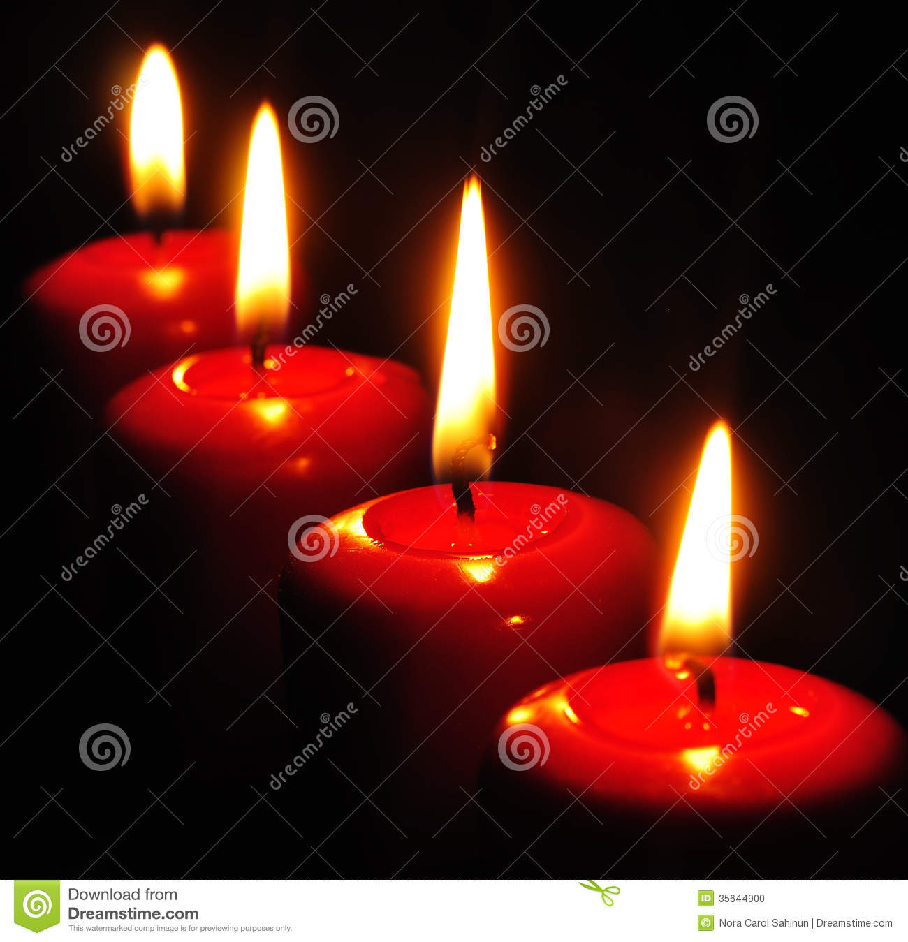 Red Candles With Black Background Stock Photo - Image ...