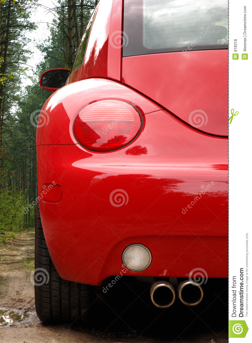 Red car back